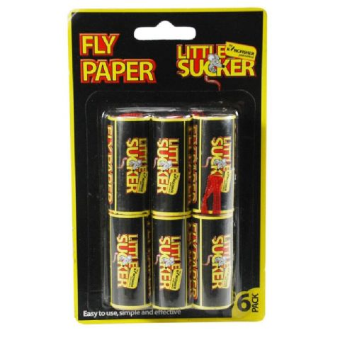 Fly Paper Strips - Little Sucker Kingfisher Pest Control (Pack of 6)